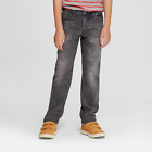 Boys' Straight Fit Jeans - Cat & Jack Gray