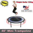 "40"" FOLDABLE MINI REBOUNDER Trampoline Jump Home Gym Cardio Workout Yoga Exercis image"