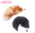 Large Big Real Fox Fur Tail Anal-Butt Plug Funny Toy Adult Games Cosplay Gift