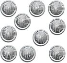 10x German Army Nva Buttons Silver And Grey Military Shoulder Board Buttons 16mm