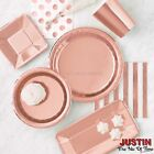 ROSE GOLD Party Tableware Supplies Disposable Events Catering  for sale  Shipping to United States