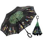 C-Handle Windproof Double Reverse Umbrella Layer Upside Down Inverted Folding