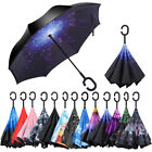 Kyпить C-Handle Windproof Double Reverse Umbrella Layer Upside Down Inverted Folding на еВаy.соm