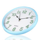 12 Night Light Wall Clock Silent Non-Ticking Glowing For Kitchen Bedroom Decor