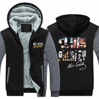 Winter Thicken Hoodie Elvis presley  3D Print Sweatshirt warm Coat Zipper Jacket