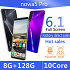 "6,1"" Nowa5 Pro Smart Phone 8+128g Face Id Fingerprint Unlock Android 9.1 10 Core"