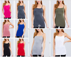 Women's Basic Casual Long Camisole Adjustable Strap Cami Tank Top(S-3XL)