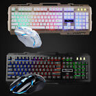 Rainbow Gaming Backlight LED Mechanical Keyboard and Mouse Combo w/ Phone Holder