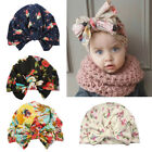 Cute Newborn Baby Floral Print Cotton Bowknot Hat Toddler Turban Beanie Cap Hat