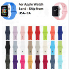 Replacement Silicone Sports Band Strap For Apple Watch Series 4/3/2/1 38mm 42mm image