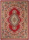 Area Rug Red Oriental Style Floor Carpet Small Large Sizes Low Pile