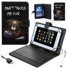 "For Acer Iconia 7 ""8""10"" IN Tab PU Leather USB With Keyboard Stand Case Cover US"