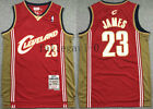 New Men's Cleveland Cavaliers NO.23 LeBron James basketball jersey retro  red on eBay