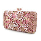 Gorgeous Crystal Clutch Evening Bag Women Banquet Handbag Prom Party Chain Purse
