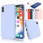 Liquid Silicone Case+Screen Protector for iPhone XR,XS Max,X,6,6S,7,8 Plus Cover