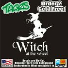 Witch At The Wheel Funny DieCut Vinyl Window Decal Sticker Car Truck SUV JDM