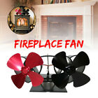 8 Blade Wood Heater Fan Stove Fireplace Heat Power Save Circulating Thermal