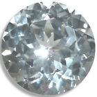 Lab Created White Sapphire Round Loose Gemstones Fine Cut AAA Quality