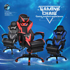 Video Racing Gaming Chair Ergonomic PU Leather Adjustable Recliner w/Footrest
