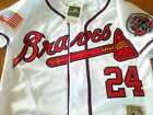 New WHITE Atlanta Braves #24 Deion Sanders cooperstown w/2patch sewn Jersey men on Ebay