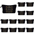 Women Makeup Cosmetic Toiletry Bag With 12 Constellation Travel Organizer New