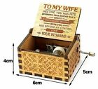Personalised Son Mom Grand Daughter Wind Up Wooden Music Box Boxes Vintage Toy