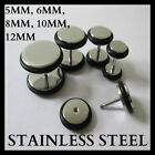 6MM 8MM 10MM 12MM FAKE EAR PLUG STRETCHER TAPER TUNNEL STAINLESS STEEL CHEATER