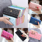 Women Lady Long Card Holder Phone Bag Case Purse Handbag Clutch Leather Wallet image
