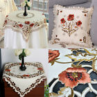 Embroidered Tablecloth Floral Table Pillowcase Coverspecial Event Party Decor