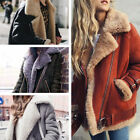 Womens Loose Trench Warm Coat Long Jacket Parka Motor Winter Oversized Outwear