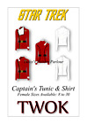 Star Trek II Sewing Pattern TWOK Captain Tunic Cosplay Comic Con Fancy Uniform F on eBay