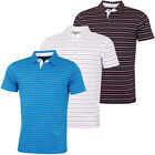 Bobby Jones Mens Rule 18 Tech Del Sol Stripe Stretch Golf Polo Shirt 57% OFF RRP