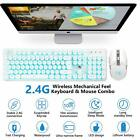 US Gaming Keyboard and Mouse set Rechargeable Backlit Wireless 4800mAh Battery