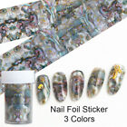 Seashore Series Nail Foils Red Green Black Foil Nail Art Transfers Sticker Decal