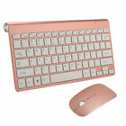 Wireless Keyboard And Mouse Set Waterproof 2.4G Slim For Mac Apple PC Computer