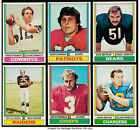 1974 Topps Football Cards singles EX $2 ea. #251-528 U-Pick FREE SHIPPING !!!! $2.0 USD on eBay