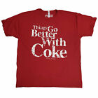 Coca Cola T-Shirt Things Go Better With Coke OFFICIAL Red Soda Fizzy 9B £12.95  on eBay