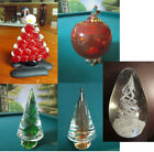 MURANO ITALY PAPERWEIGHT CHRISTMAS TREE GOLD DUST APPLE SAKS 5TH AVE  PICK 1