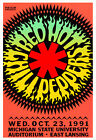 Red Hot Chili Peppers concert poster print
