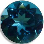 Natural Topaz London Blue Round Faceted Loose Gemstones Fine Cut AAA