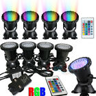 Submersible 36 LED RGB Pond Spot Lights Underwater Pool Fountain IP68+IR Remote $38.75 USD on eBay