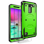 LG Stylo 2 /Stylo 2 Plus /Stylo 2 V Case Cover + Screen Protector Tempered Glass
