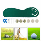 Indoor Golf Putting Hitting Practice Training Mat Big Fee Design Green Carpet