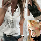 Kyпить 2019 Fashion Womens V-Neck Short Sleeve Tops Blouse Ladies Summer Casual T-Shirt на еВаy.соm
