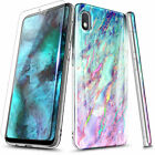 For Samsung Galaxy A10E A20 A30S A50 Case Slim Thin Marble Cover +Tempered Glass