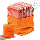 2-10 Pack Survival Sleeping Bag, Emergency Bivvy Bag Rescue Blanket for Camping