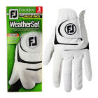 Footjoy Mens WeatherSof Leather 3 Pack LH Golf Glove 33% OFF RRP