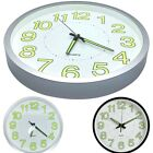 Large Wall Clock 12 Inch Luminous Glow In The Dark Quartz Bedroom Watch Living