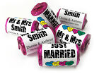 Personalised Mini Love Heart Sweets for Weddings favours,Just Married-Black Text