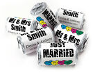 Personalised Mini Love Heart Sweets for Weddings favours,Silver Foils - Original